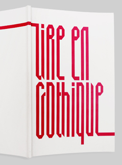 Lire en Gothique project preview | graphic design